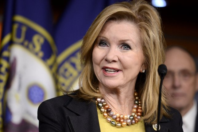 Rep. Marsha Blackburn, R-Tenn., along with several other fellow Republican lawmakers, including Sen. Charles Grassley, R-Iowa, faced at-times contentious meetings with constituents on Tuesday. File Photo by Mike Theiler/UPI