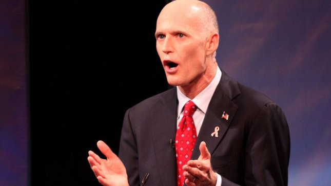 Florida Gov. Rick Scott said he was accidentally purged from voter registration rolls in 2006. 2010 file photo. UPI/Martin Fried