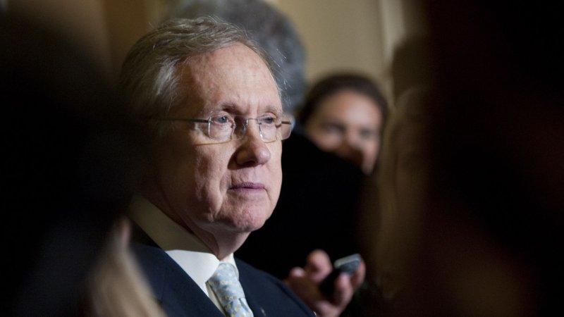 Senate Majority Leader Harry Reid (D-NV) on May 8, 2012. UPI/Kevin Dietsch