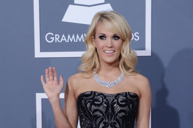 Singer Carrie Underwood arrives at the 55th annual Grammy Awards at Staples Center in Los Angeles on February 10, 2013. UPI/Jim Ruymen