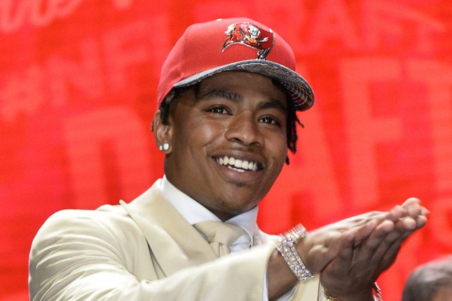 Florida cornerback Vernon Hargreaves III walks onto the stage after being selected by the Tampa Bay Buccaneers with the 11th overall pick in the 2016 NFL Draft on April 28, 2016 in Chicago. Photo by Brian Kersey/UPI