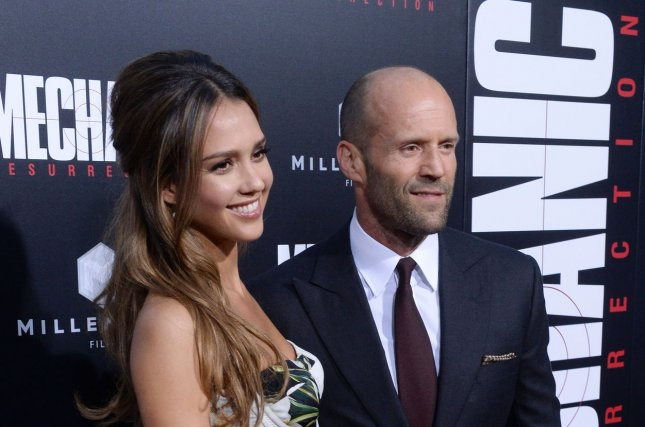 Jessica Alba and Jason Statham attend the Mechanic: Resurrection premiere at the ArcLight Cinerama Dome in Los Angeles on August 22, 2016. Alba recently appeared on Today to discuss her company, Honest Company, and two class action lawsuits that have been filed against it. Photo by Jim Ruymen/UPI