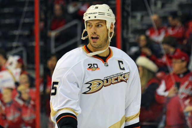 Ryan Getzlaf's third-period power-play goal lifted the Ducks to a 2-0 series lead. File photo UPI/Mark Goldman