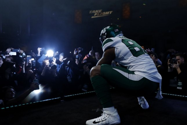 New York Jets tight end Chris Herndon had 39 catches as a rookie last season. File Photo by John Angelillo/UPI