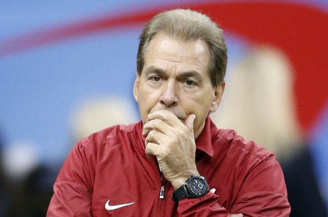 Alabama Crimson Tide head coach Nick Saban (pictured) picked Mac Jones over Bryce Young, a former five-star recruit who enrolled early, for the starting quarterback job. File Photo by AJ Sisco/UPI