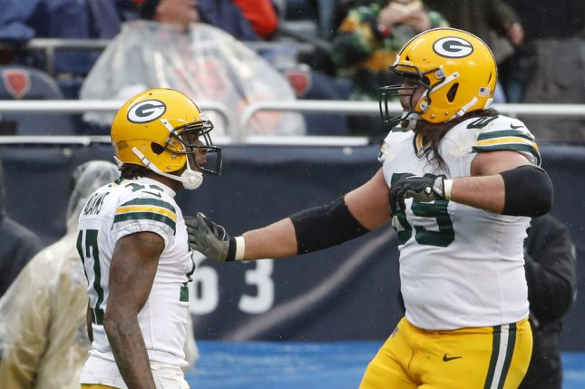 Green Bay Packers offensive tackle David Bakhtiari's (69) injury comes only six weeks after the Packers signed him to a four-year, $103.5 million contract extension. File Photo by Kamil Krzaczynski/UPI
