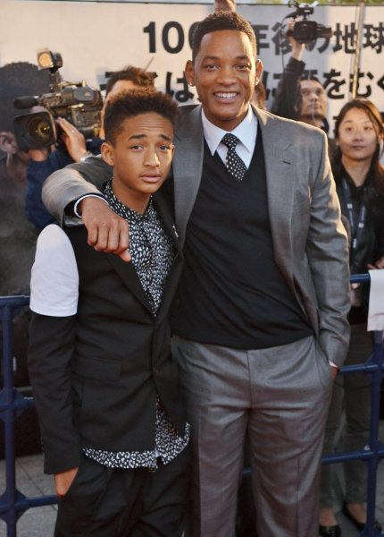 Actor Will Smith(R) and Jaden Smith attend the Japan premiere for the film After Earth in Tokyo, Japan on May 1, 2013. The film will open on June 21 in Japan. UPI/Keizo Mori