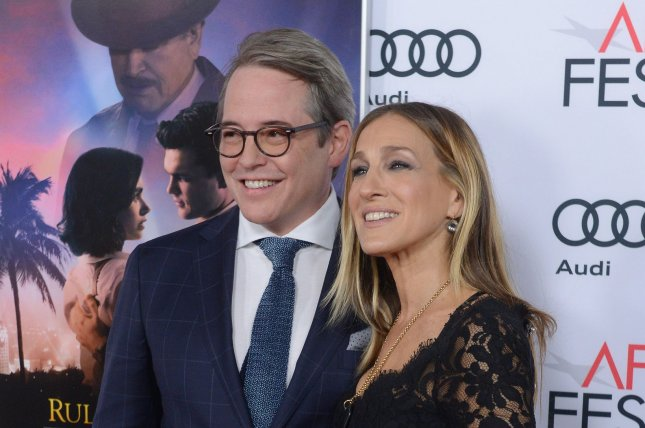 Matthew Broderick (L) and wife Sarah Jessica Parker at the Los Angeles premiere of Rules Don't Apply on November 10, 2016. File Photo by Jim Ruymen/UPI