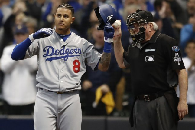 All-Star infielder Manny Machado is headed to the San Diego Padres after spending last season with the Los Angeles Dodgers and Baltimore Orioles. File Photo by Kamil Krzaczynski/UPI