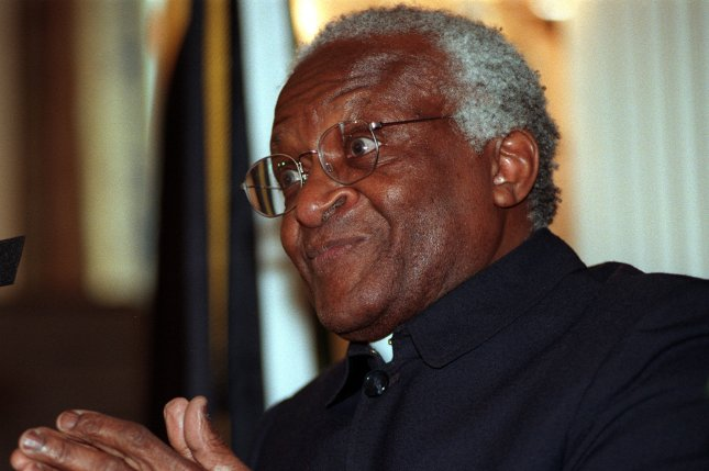 On October 16, 1984, black Anglican Bishop Desmond Tutu of South Africa won the Nobel Peace Prize for his struggle against apartheid. File Photo by Ian Wagreich/UPI
