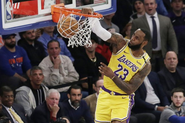 Los Angeles Lakers star LeBron James is the captain of the Western Conference All-Star team after receiving the most votes from fans. File Photo by John Angelillo/UPI