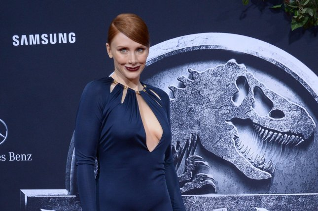 Cast member Bryce Dallas Howard attends the premiere of Jurassic World in Los Angeles on June 9, 2015. File Photo by Jim Ruymen/UPI