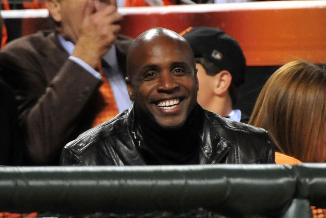 San Francisco Giants legendary slugger Barry Bonds returns to the team in an advisory role to CEO Larry Baer. File photo by Kevin Dietsch/UPI
