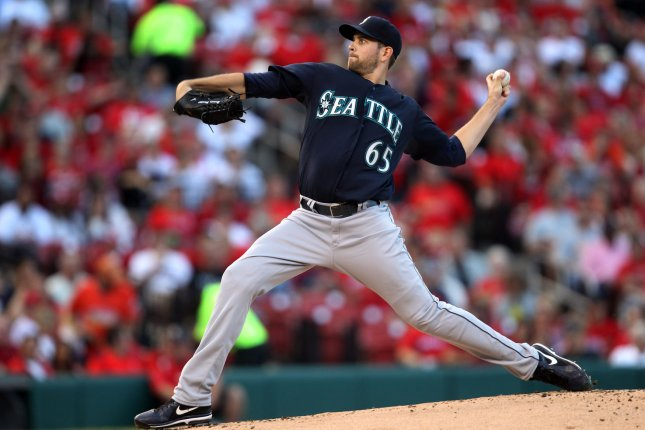 James Paxton and the Seattle Mariners face the Los Angeles Angels on Thursday. Photo by Bill Greenblatt/UPI