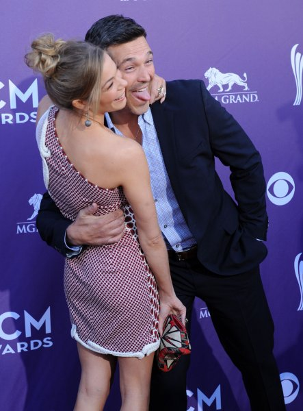 Actor Eddie Cibrian and singer LeAnn Rimes arrive at the 47th annual Academy of Country Music Awards at the MGM Hotel in Las Vegas, Nevada on April 1, 2012. UPI/Jim Ruymen