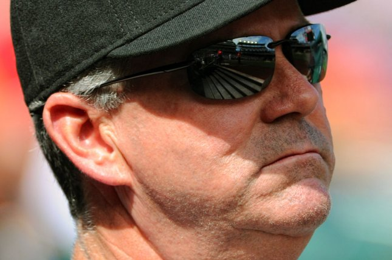 Miami Marlins manager Dan Jennings (26). Photo by Mark Goldman/UPI