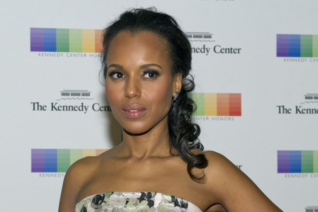 Kerry Washington has been named Hasty Pudding Theatricals' 2016 Woman of the Year. She is seen here at a dinner honoring the recipients of the 38th Annual Kennedy Center Honors in Washington, D.C. on December 5, 2015. Pool photo by Ron Sachs/UPI