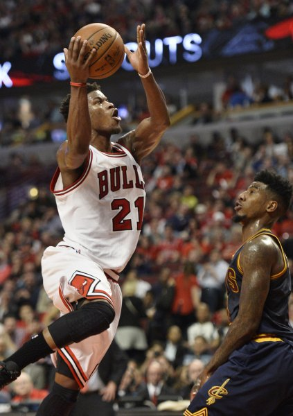 Chicago Bulls guard Jimmy Butler could be traded to Boston for a No. 3 pick. File photo by Brian Kersey/UPI