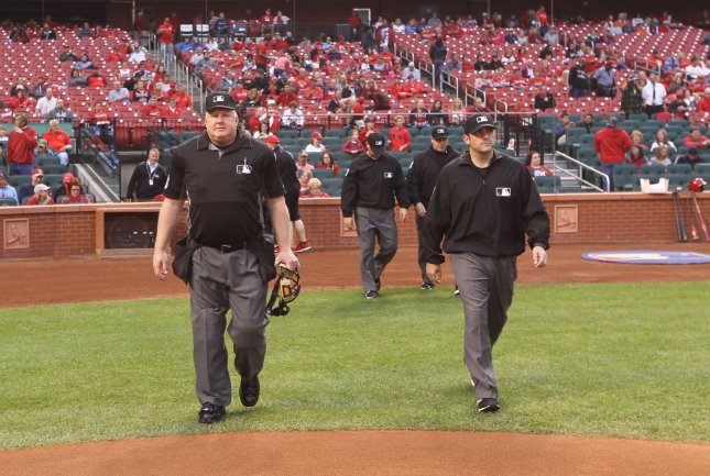 Major League Baseball  umpires protesting Kinsler's non-suspension
