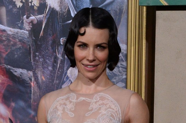 Evangeline Lilly attends the premiere of The Hobbit: The Battle of Five Armies on December 9, 2014. Lilly has shared on social media the first photo herself in costume for Ant-Man and the Wasp. File Photo by Jim Ruymen/UPI