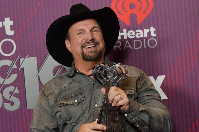 Garth Brooks will record the debut performance of his duet Dive Bar with Blake Shelton on Friday. File Photo by Jim Ruymen/UPI