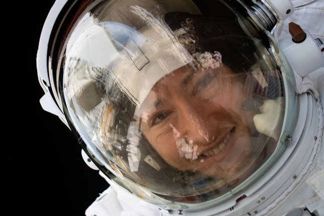 NASA astronaut Christina Koch, who in February completed the longest continuous spaceflight for a female astronaut, is among those who could be the first woman to walk on the moon.  File Photo courtesy of NASA