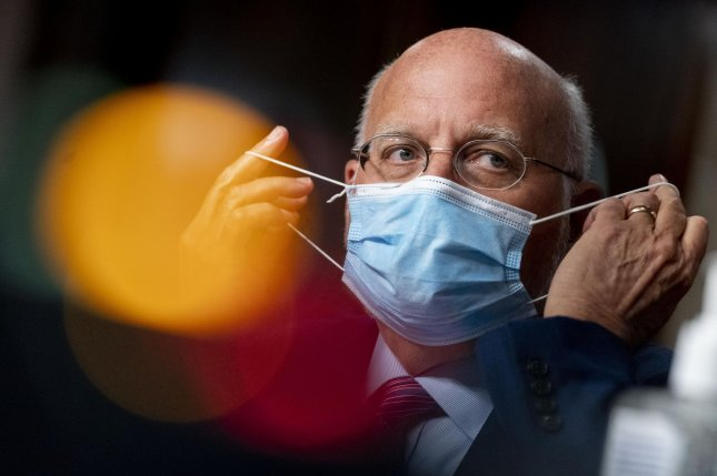 CDC Director Robert Redfield told a Senate committee on Wednesday that masks are the most important tool we have in the fight against COVID-19. Photo by Andrew Harnik/UPI