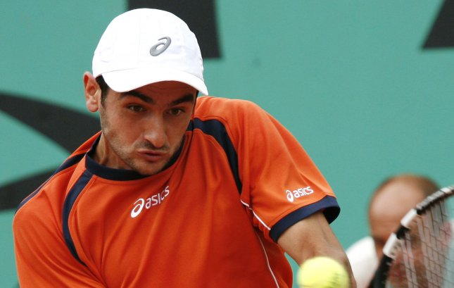 Florent Serra, shown in a May 2008 file photo, was among first-round winners Tuesday at the Sud de France Open tournament in Montpelier, France. (UPI Photo/ David Silpa)
