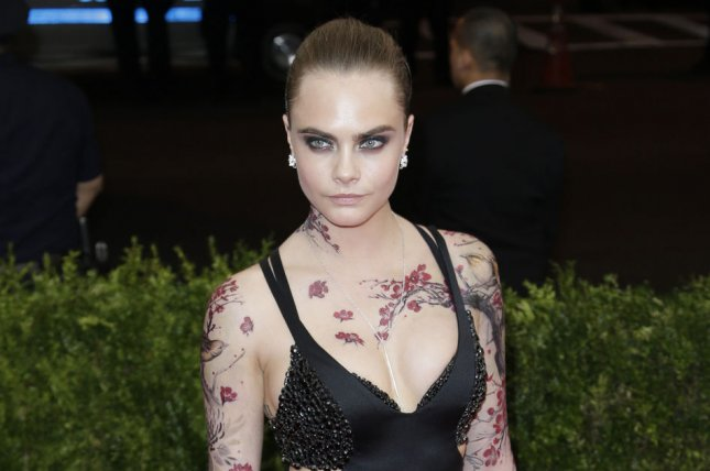 Cara Delevingne at the Costume Institute Benefit at the Metropolitan Museum of Art on May 4. The model recently declared her bisexuality is not a 'phase.' File photo by John Angelillo/UPI