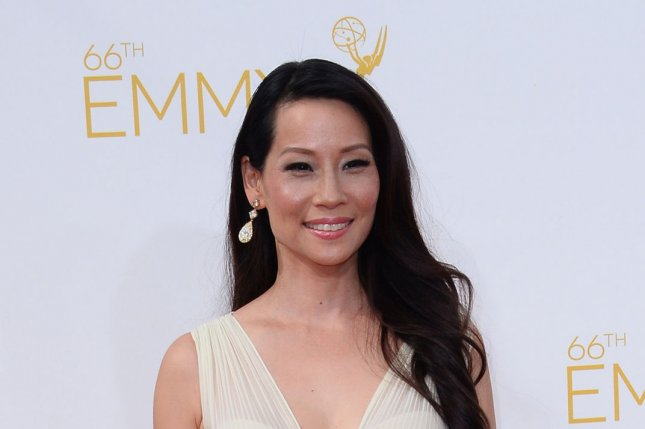 Lucy Liu arriving for the Primetime Emmy Awards. The actress recently took to Instagram to share a photo of her newborn son Rockwell. File Photo by Jim Ruymen/UPI