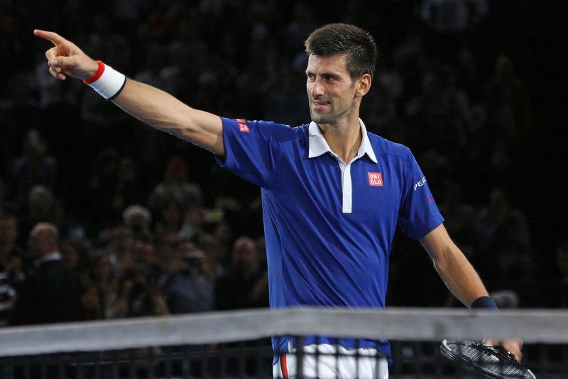 Novak Djokovic of Serbia. Photo by David Silpa/UPI