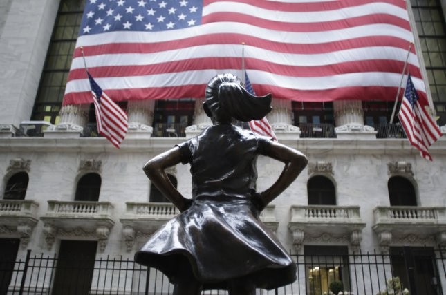 The company that commissioned the Fearless Girl statue is suing its creator for breach of contract for selling replicas of the famous piece of corporate art. Photo by John Angelillo/UPI