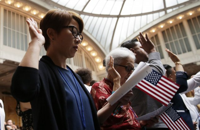 A federal judge blocked a proclamation by President Donald Trump to deny visas to immigrants who lack healthcare. Photo by John Angelillo/UPI