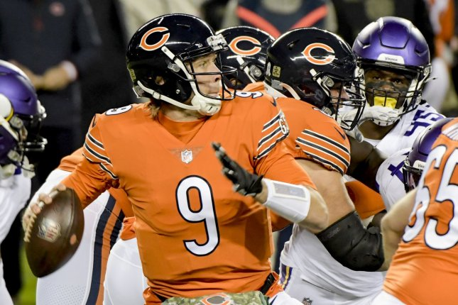 The Chicago Bears will consider starting quarterback Nick Foles for their Week 4 matchup with the Detroit Lions. File Photo by Mark Black/UPI