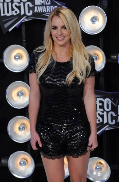 Singer Britney Spears arrives at the MTV Video Music Awards in Los Angeles on August 28, 2011 in Los Angeles. UPI/Jim Ruymen