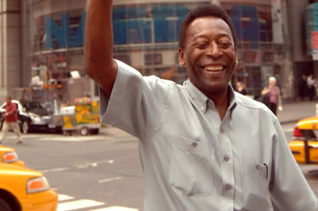 Brazilian soccer legend Pele takes part in the opening-bell ceremonies at the NASDAQ in New York's Times Square on July 11, 2007. Photo by Ezio Petersen/UPI
