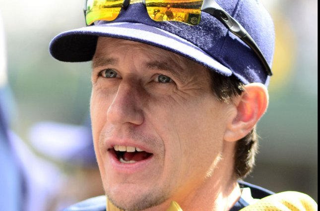 Milwaukee Brewers manager Craig Counsell (30). Photo by Archie Carpenter/UPI