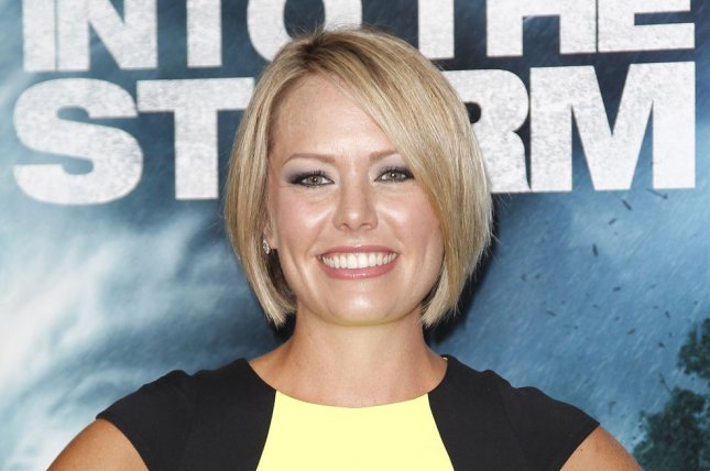 Dylan Dreyer at the New York premiere of Into the Storm on August 4, 2014. The Today meteorologist is expecting with husband Brian Fichera. File Photo by John Angelillo/UPI