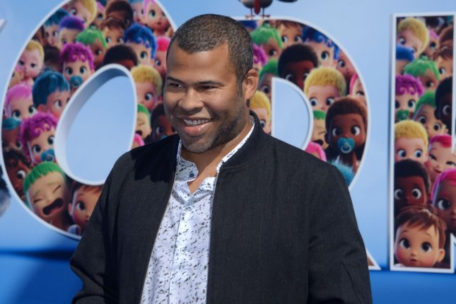 Jordan Peele, the voice of Wolf Pack, attends the Storks premiere at the Regency Village Theater in Los Angeles on September 17, 2016. Peele's new horror film, Get Out, is being billed as equal parts gripping thriller and provocative comedy. File Photo by Jim Ruymen/UPI