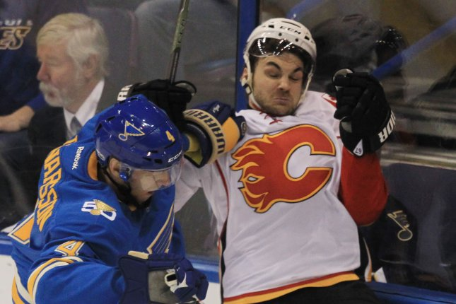 51f4ce937bb Calgary Flames winger Michael Frolik has never appeared in a fight during  his NHL career. File photo by Bill Greenblatt UPI