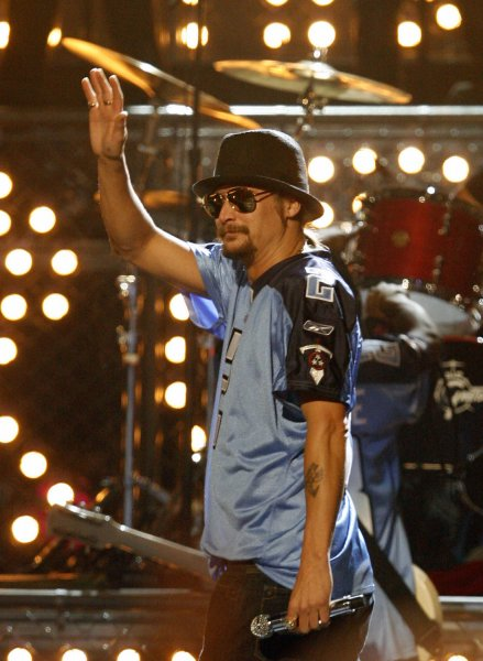 Kid Rock performs at the 42nd annual Country Music Association (CMA) awards in Nashville, Tennessee on November 12, 2008. (UPI Photo/John Sommers II)