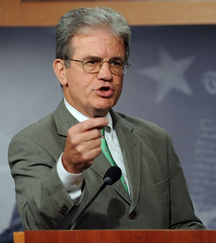 Sen. Tom Coburn, R-OK, who is very much against man-babies. UPI/Roger L. Wollenberg