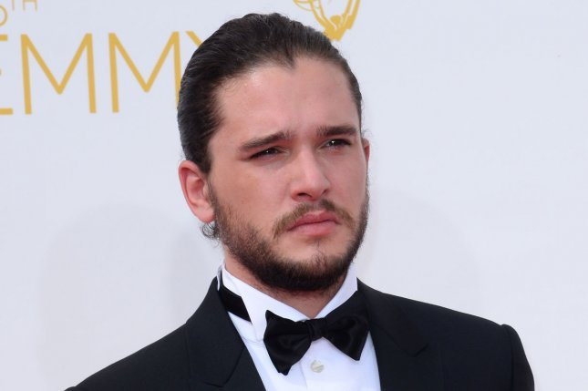 Kit Harington arrives at the Primetime Emmy Awards on August 25, 2014. HBO has confirmed Jon Snow's parents with a new infographic. File Photo by Jim Ruymen/UPI