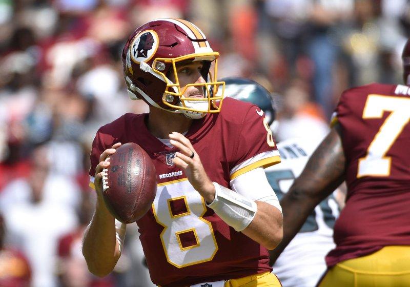 Kirk Cousins and the Washington Redskins face the Denver Broncos on Sunday. Photo by David Tulis/UPI