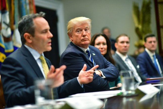 A federal judge struck down the President Donald Trump administration's approval of Kentucky Gov. Matt Bevin's plan to require some Medicaid recipients to work or volunteer in exchange for the benefits. File Photo by Kevin Dietsch/UPI