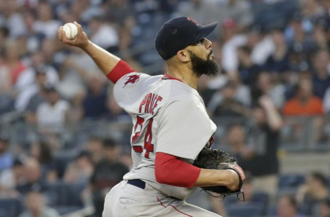 David Price and the Boston Red Sox face the Cleveland Indians on Thursday. Photo by John Angelillo/UPI