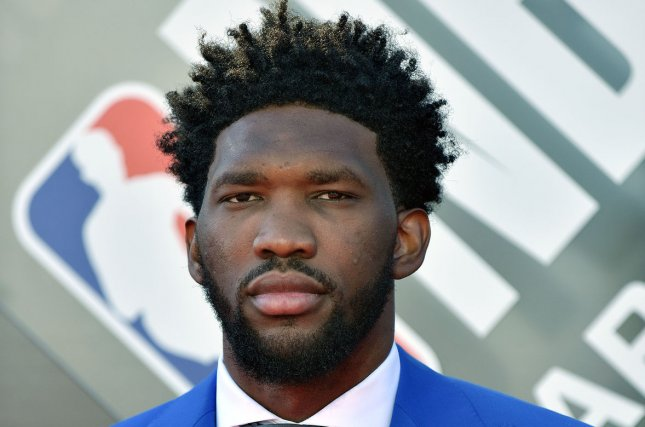 Joel Embiid had a career-high 22 rebounds in the Philadelphia 76ers win against the Boston Celtics Wednesday in Philadelphia. He was also involved a brief altercation with Celtics star Marcus Smart at the start of the third quarter. File Photo by Chris Chew/UPI