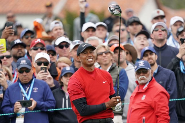 Tiger Woods finished tied for 21st at the U.S. Open. Photo by Kevin Dietsch/UPI