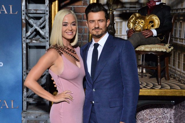 Orlando Bloom (R) discussed Katy Perry's pregnancy and his upcoming wedding to the Never Worn White singer. File Photo by Jim Ruymen/UPI