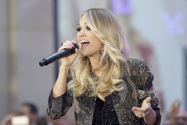 Carrie Underwood performing on the Today Show. ABC has announced Wednesday that Underwood will be headlining New Year's Rockin' Eve later this year. Photo by John Angelillo/UPI